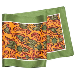 Skinny Silk Scarf - Orange Henna