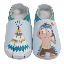 Load image into Gallery viewer, Soft Leather Baby Shoes - Indian and Tipi