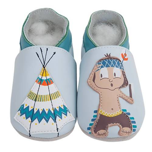 Soft Leather Baby Shoes - Indian and Tipi