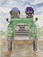 "Load image into Gallery viewer, Hettie art print "" Time for adventures ! """