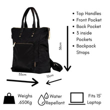 Load image into Gallery viewer, Ladies Backpack, Umbrella, Card holder Combo Set - Black Set B