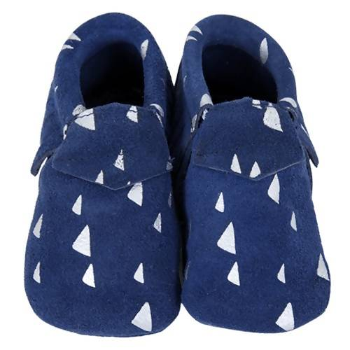 Baby Suede Moccasins Navy