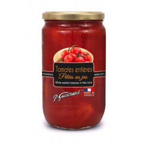 Whole peeled tomatoes from Provence with juice - P. Guintrand - 720 ml - 630 g
