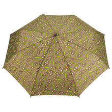 Load image into Gallery viewer, Windproof Umbrella in Tan Lilies Folding Umbrella