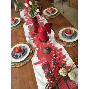 On the Street Crimson | Table Runner - Bezar