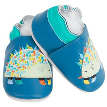 Load image into Gallery viewer, Soft Leather Baby Shoes - Hedgehog