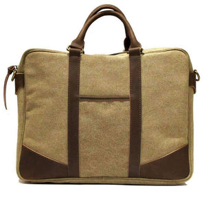 ARTS AND CRAFTS: Computer bag - beige Khaki