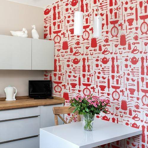 airfix kitchen wallpaper red - Bezar