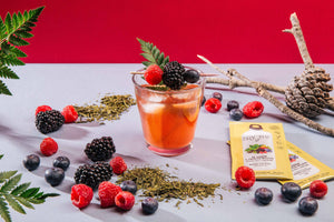 Instant drink TEA GREEN + RED FRUITS Bragulat | 15 units