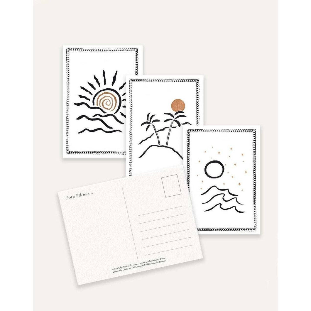 6 Pack Beach Postcards