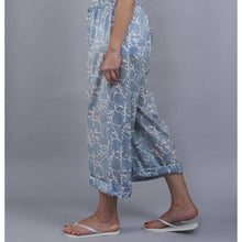 Load image into Gallery viewer, AMRITSAR floral design PJ trousers in Chambray blue - Bezar