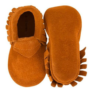 Baby Suede Moccasins Camel