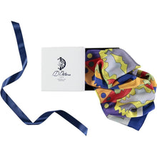 Load image into Gallery viewer, Silk Scarf In Blue Ada