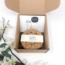 Load image into Gallery viewer, Cutes - Cork coasters, round, set of 6, eco-friendly cute animals