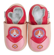 Load image into Gallery viewer, Soft Leather Baby Shoes - Matriochka