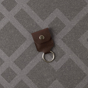 Debonaire Leather Key Ring Coin Holder - Brown - Bezar