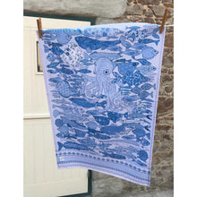 Load image into Gallery viewer, Something Fishy Blue | Tea towel - Bezar