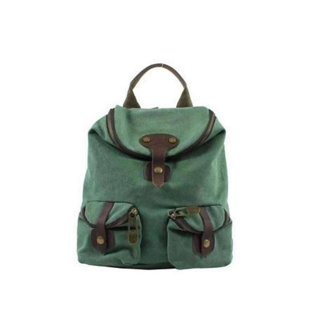 ST PAUL (SMALL): Backpack - Green