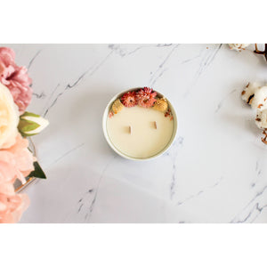 Dried flower candle - Rice powder