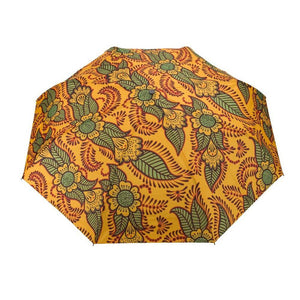 Windproof Umbrella in Orange Henna - Folding