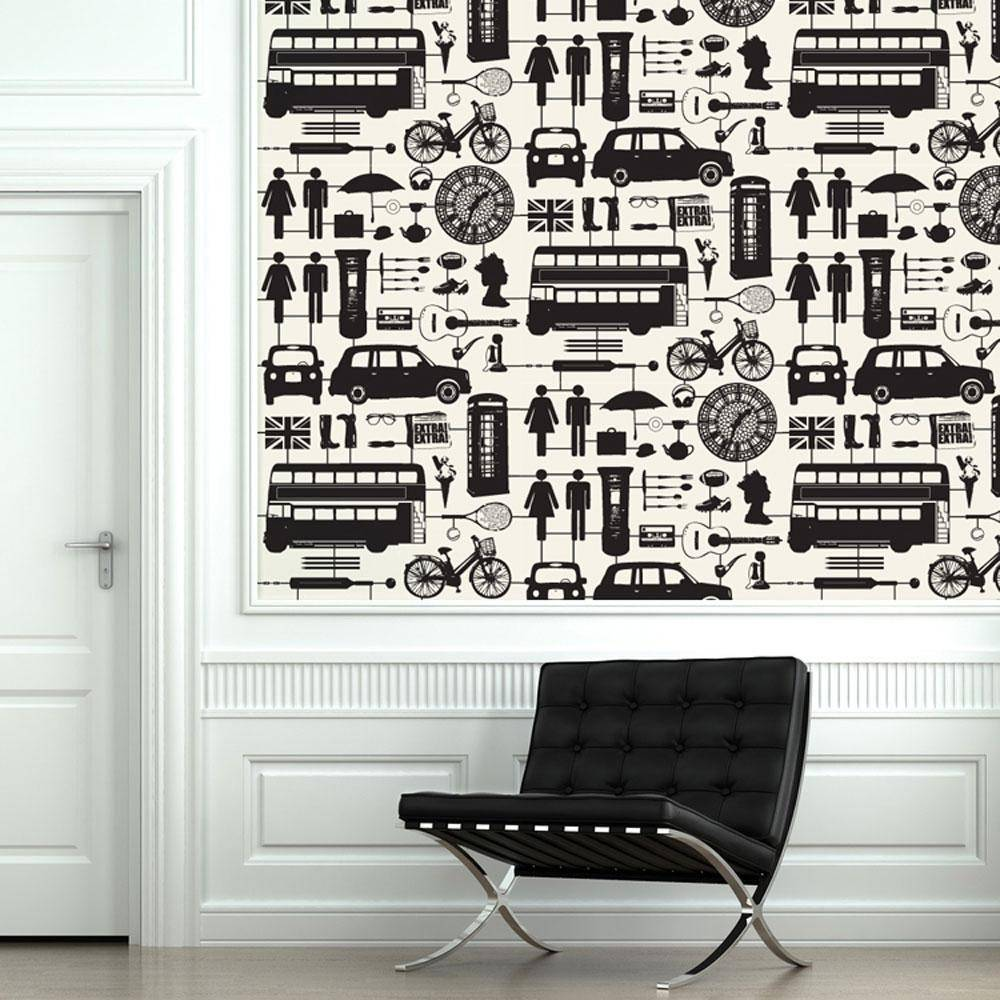 airfix london wallpaper black - Bezar