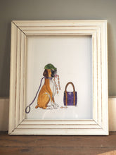 "Load image into Gallery viewer, Hettie art print "" Anyone seen the sausages ? """