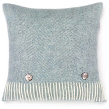 Load image into Gallery viewer, Herringbone Wool Cushion Duck Egg Blue