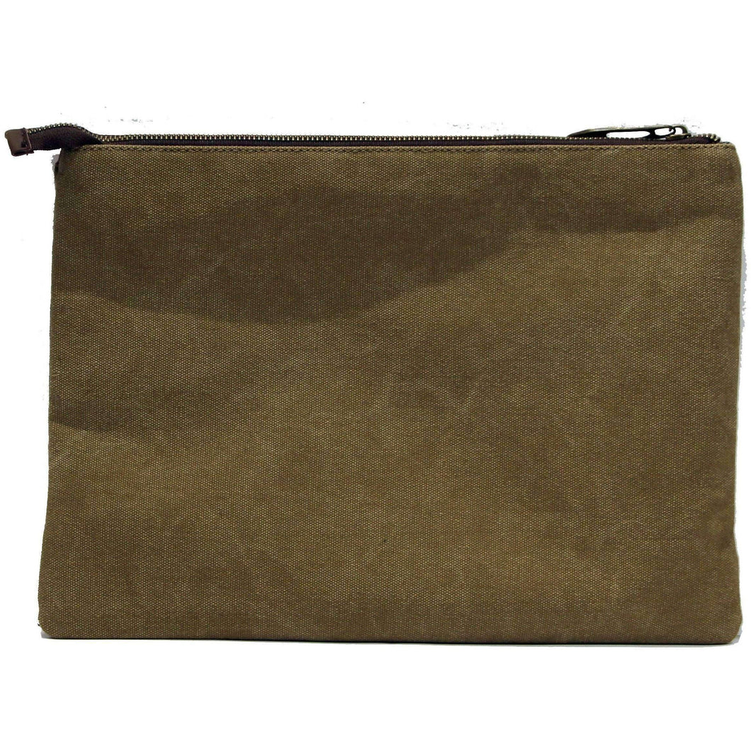 MADELEINE: Document holder - beige Khaki