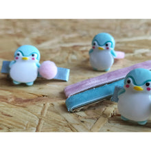 Load image into Gallery viewer, PENGUIN GANG: Hair Clip with ring