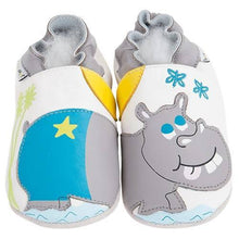 Load image into Gallery viewer, Soft Leather Baby Shoes Hippo
