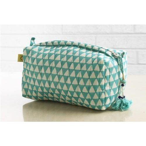 Alibag small triangle design in aqua - Bezar