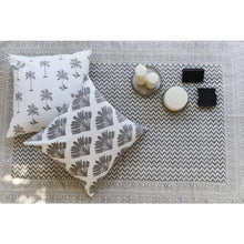 Load image into Gallery viewer, MARARI palms print cushion cover in French grey - Bezar