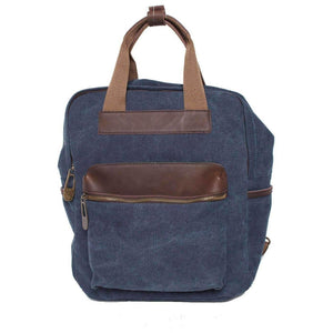 RAMBUTEAU: Backpack - Blue jeans