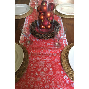 Red Let it Snow | Table Runner - Bezar