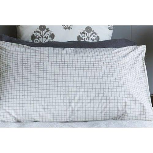 Windowpane check design pillowcase - Bezar