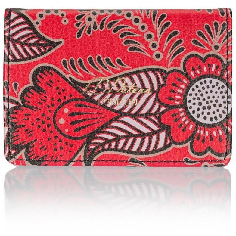 Travel Card Holder in Red Henna