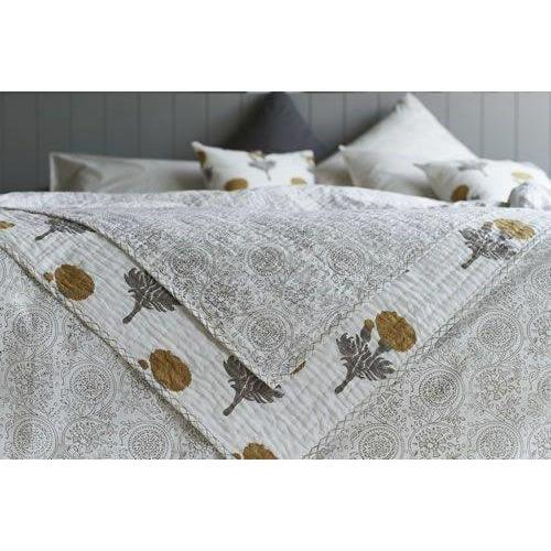 RAJ floral reversible bed throw - Bezar