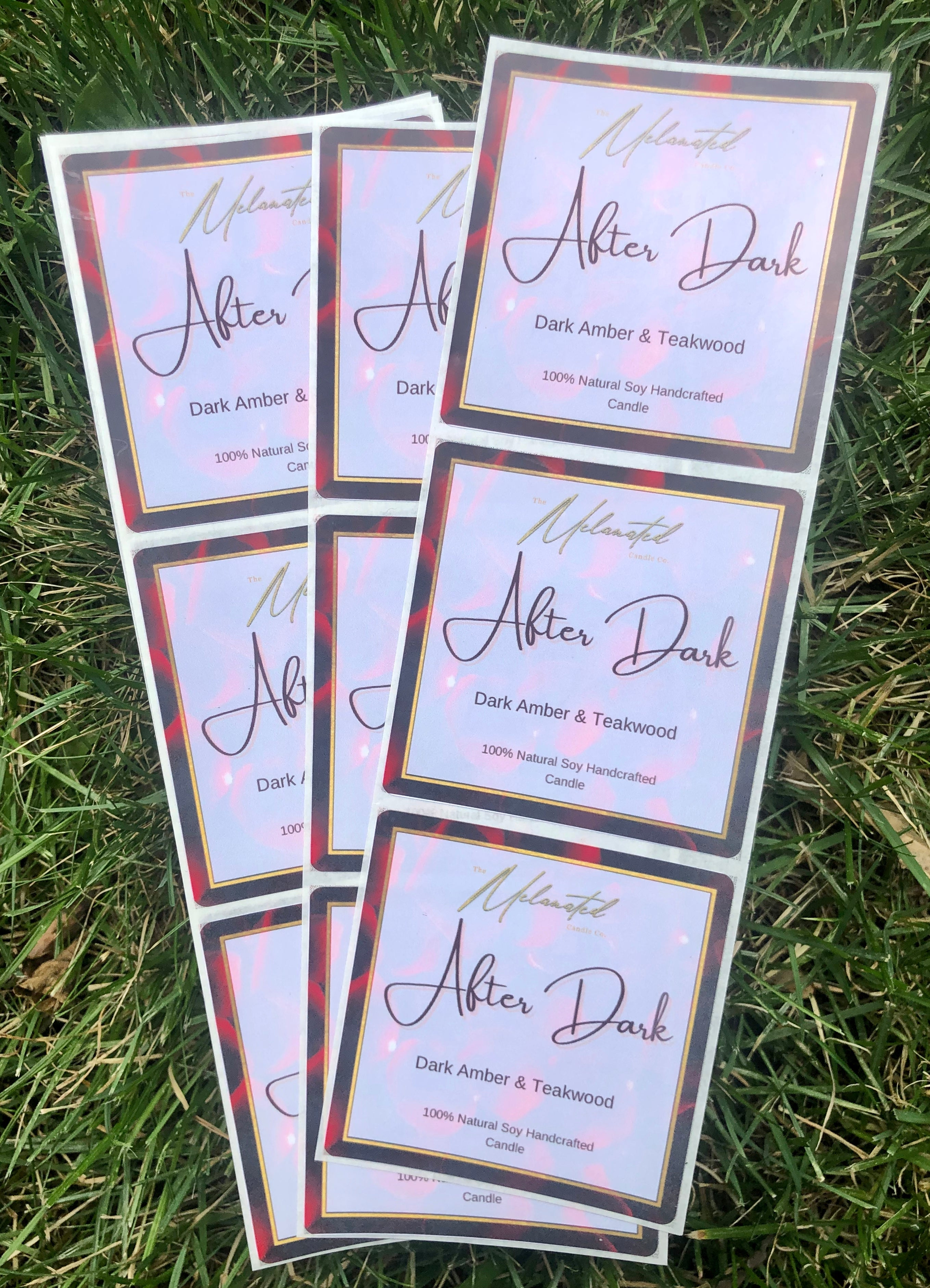 After Dark - Melanated Candle Co 3x3 inch labels