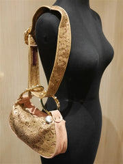 Rachel Abroms Pink and Gold Handbag