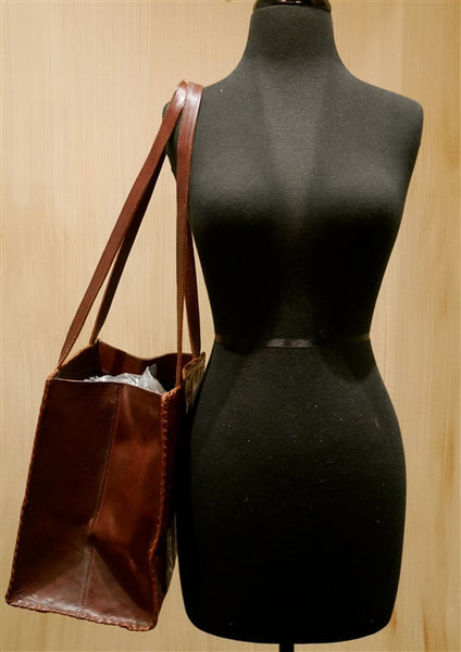 Leaders in Leather Brown Shoulder Handbag