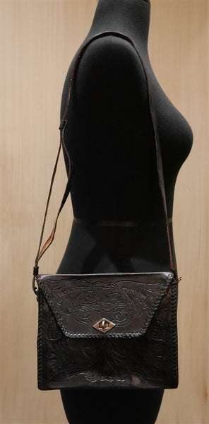 Vintage Tooled Leather Handbag