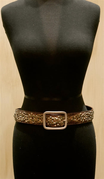 Orciani Studded Gold Belt
