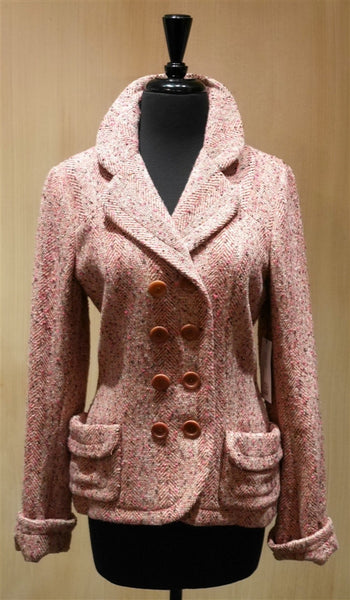 James Coviello Tweed Double Breasted Jacket
