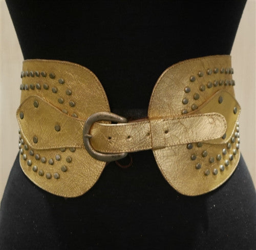 Calleen Cordero Yeseni Wide Gold Belt