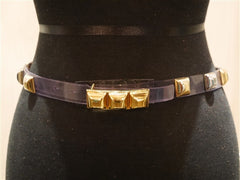 Orciani Clear Gold Studded Skinny Belt