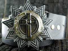 Kimme Winter Star Belt Buckle with Cross Design