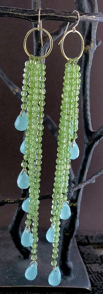 Cameron Cohen Green Apatite Earrings