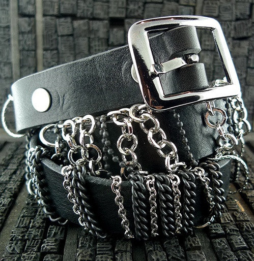 HTC Black Hanawa Chain Wrapped Belt
