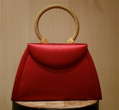 Corem Rose Small Red Silk Handbag