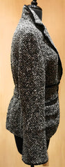 An Ren Grey & Black Boucle Jacket